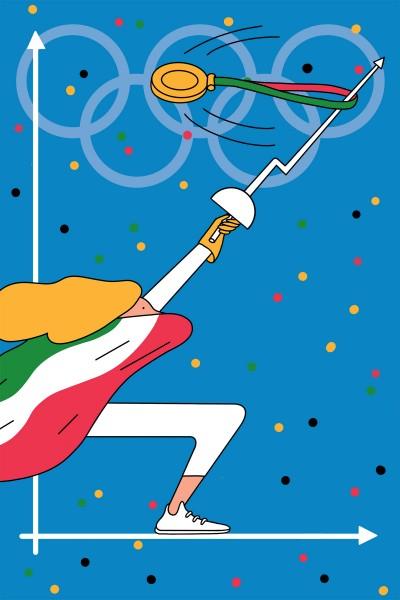 L'Impresa sportiva rappresentata da un'Illustrazione di Elena Xausa